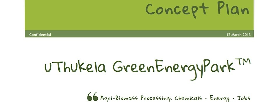 Concept Plan for a GreenEnergyPark™ Biomass-Processing Hub